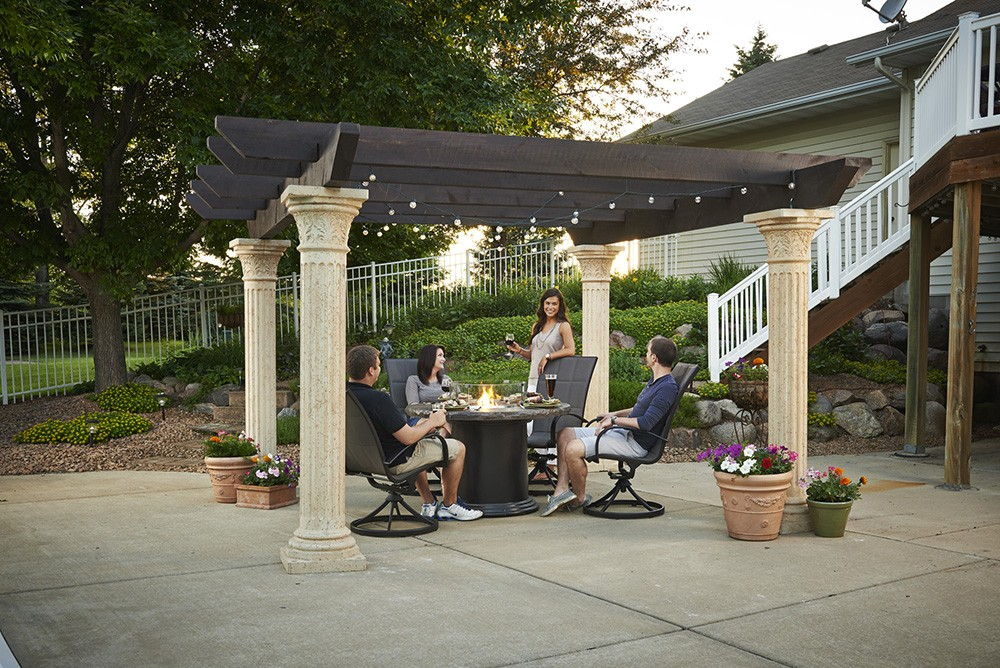 Outdoor Greatroom Company Tuscany Pergola With Wood Beams