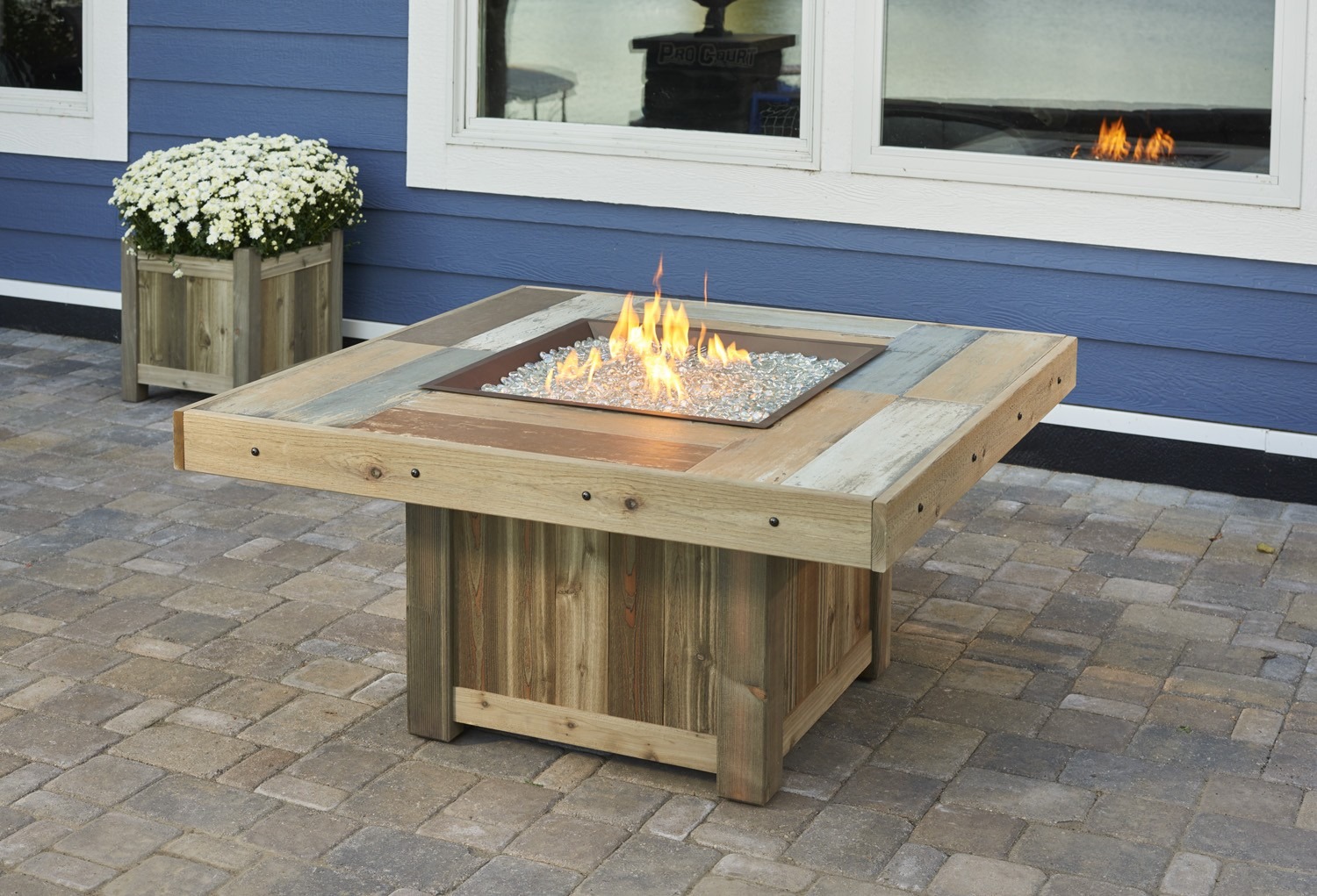 Outdoor Greatroom Vintage 48 25 Square Faux Wood Fire Table Outdoor Greatroom Company Square Vintage 2424 Fire Table
