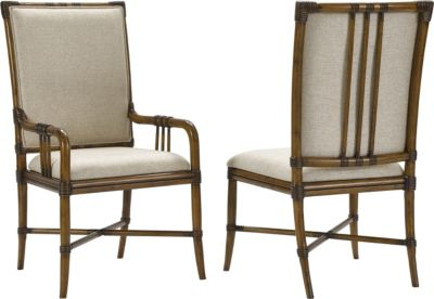 Bamboo Chairs Amalie Bay Bamboo Arm And Side Chairs