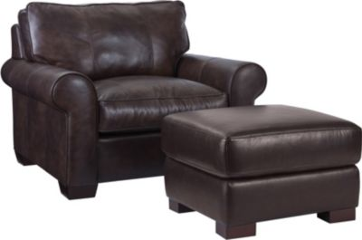 Leather Chair And Ottoman Isadore Chair 1 2 Broyhill