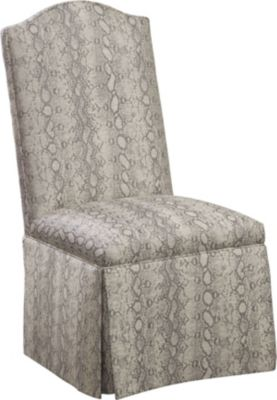 bedroom chair with skirt human touch costco dining chairs room thomasville furniture donna side kick pleat