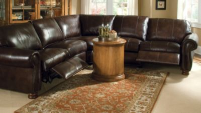 thomasville benjamin sofa average cost to reupholster a sleeper leather reclining ...