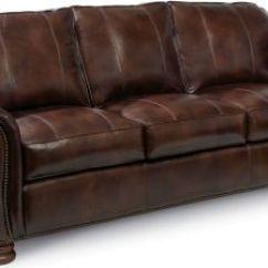 Thomasville Benjamin Leather Sofa Best Rv Air Mattress 3 Seat (express) | Furniture