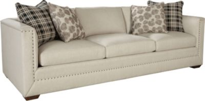thomasville leather chair pink zebra sofas living room furniture ed ellen degeneres montecito sofa crafted by