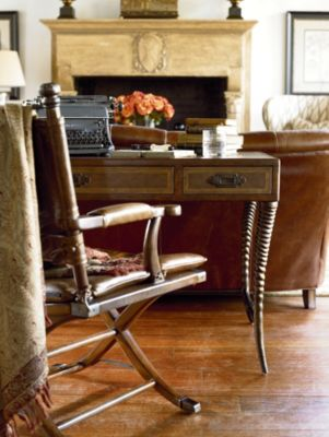 thomasville leather chair patio bar chairs and tables ernest hemingway® safari desk | furniture