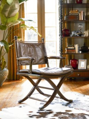 metal wall art decor for living room tropical tables ernest hemingway® safari desk chair | thomasville furniture