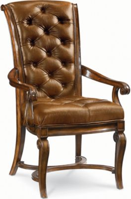 thomasville leather chair white arm dining room furniture deschanel