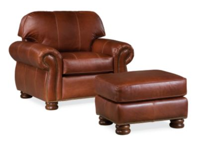 Leather Chair And Ottoman Living Room Chairs Armchairs Thomasville Furniture