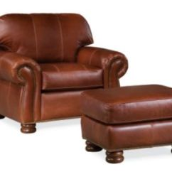 Thomasville Leather Chair Eames Molded Plywood Living Room Chairs Armchairs Furniture Benjamin And A Half
