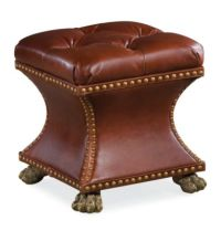 Bijou Ottoman (Leather) | Thomasville Furniture