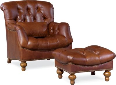thomasville leather chair office guest chairs ernest hemingway walden furniture