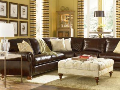 Benjamin Sectional Leather  Thomasville Furniture