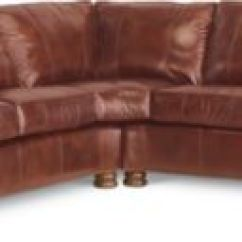 Thomasville Benjamin Leather Sofa Maroon Covers Sectional (two-piece) (leather) | ...