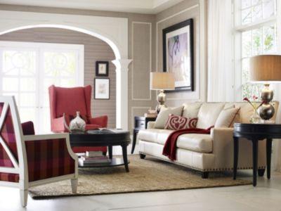 Beau Sofa Leather  Thomasville Furniture
