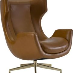 Thomasville Leather Chair Wood Parts Manufacturer Chairs Living Room Ed Ellen Degeneres Crafted By Dohney Swivel