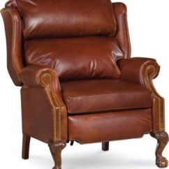 Leather Wingback Chairs Black Vanity Chair Living Room Armchairs Thomasville Furniture Claire Recliner