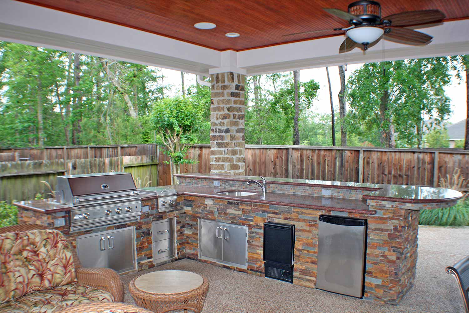 outdoor kitchen covers fluorescent lighting ideas kitchens hhi patio houston