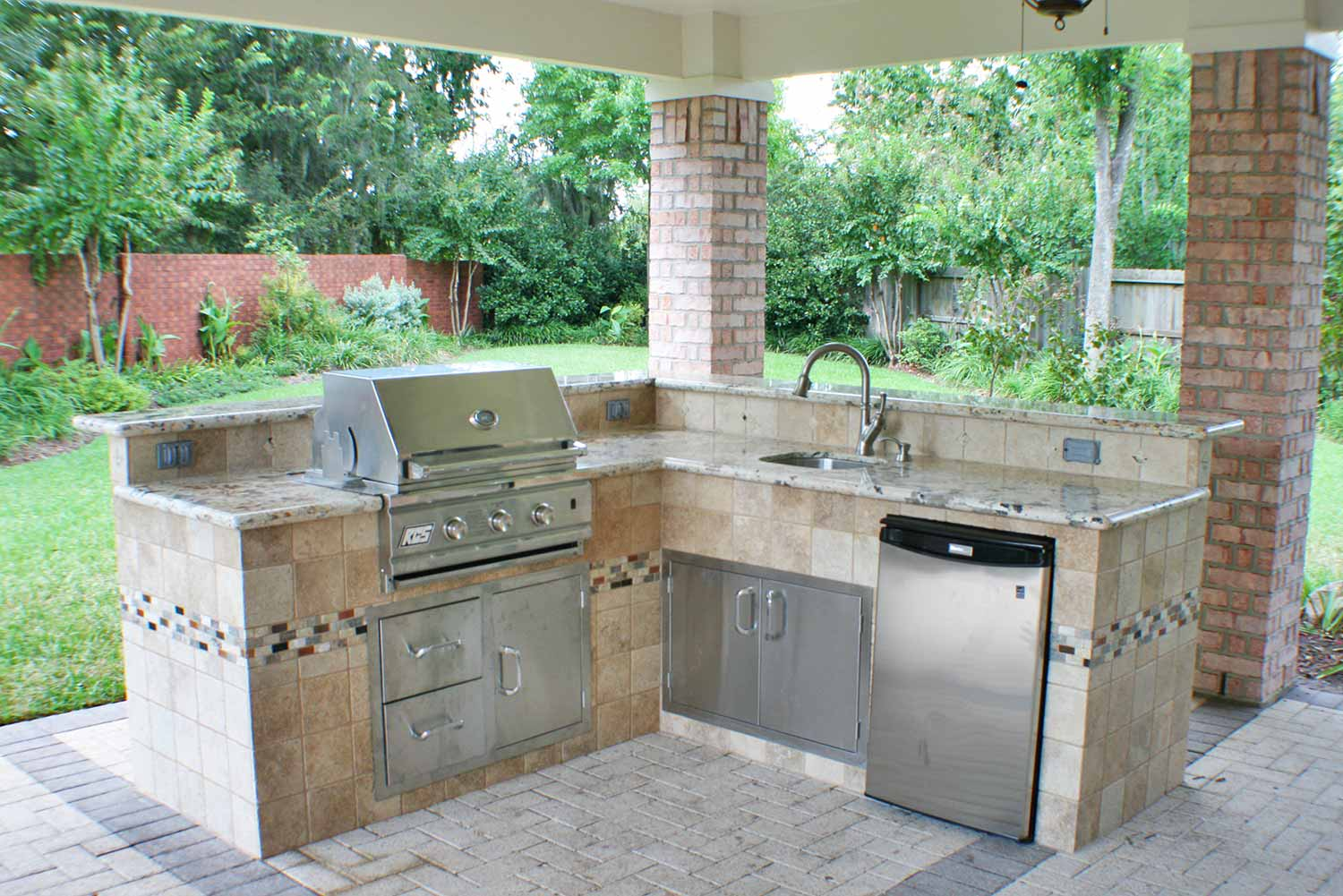 outdoor kitchen covers soap dispenser pump kitchens hhi patio houston