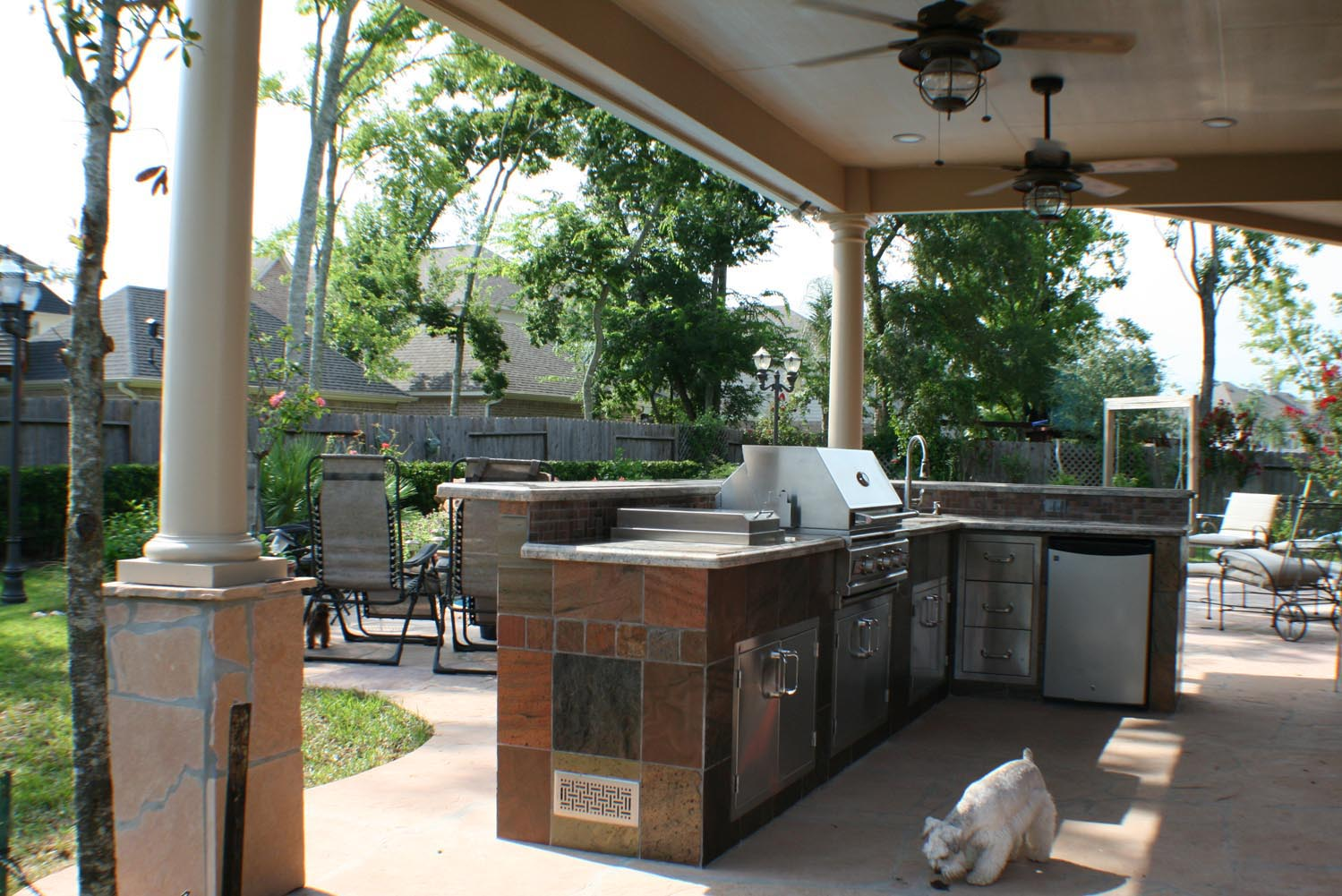 Patio Cover and Outdoor Kitchen in Houston TX  HHI Patio