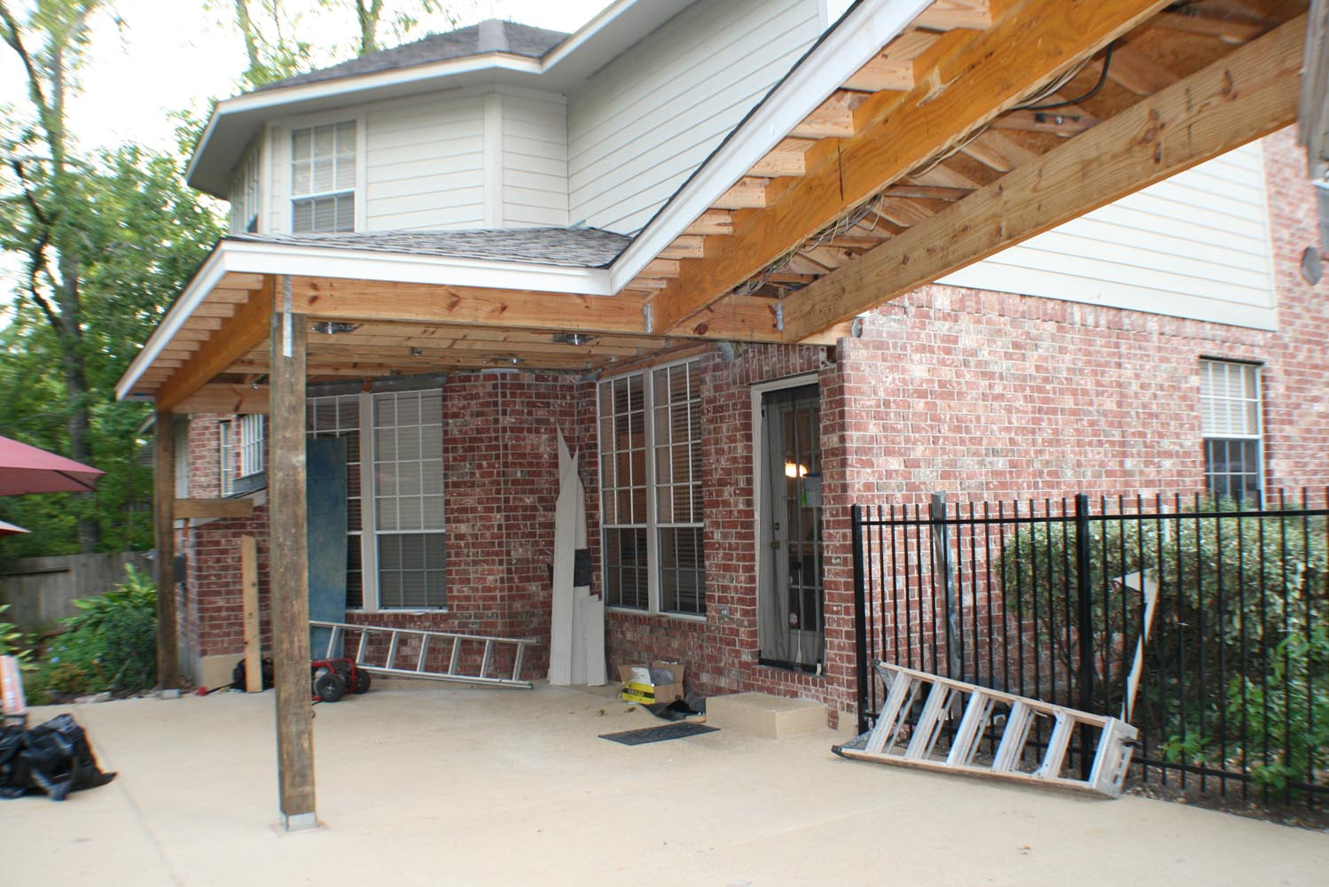 Enclosed Brick Patio Cover  HHI Patio Covers