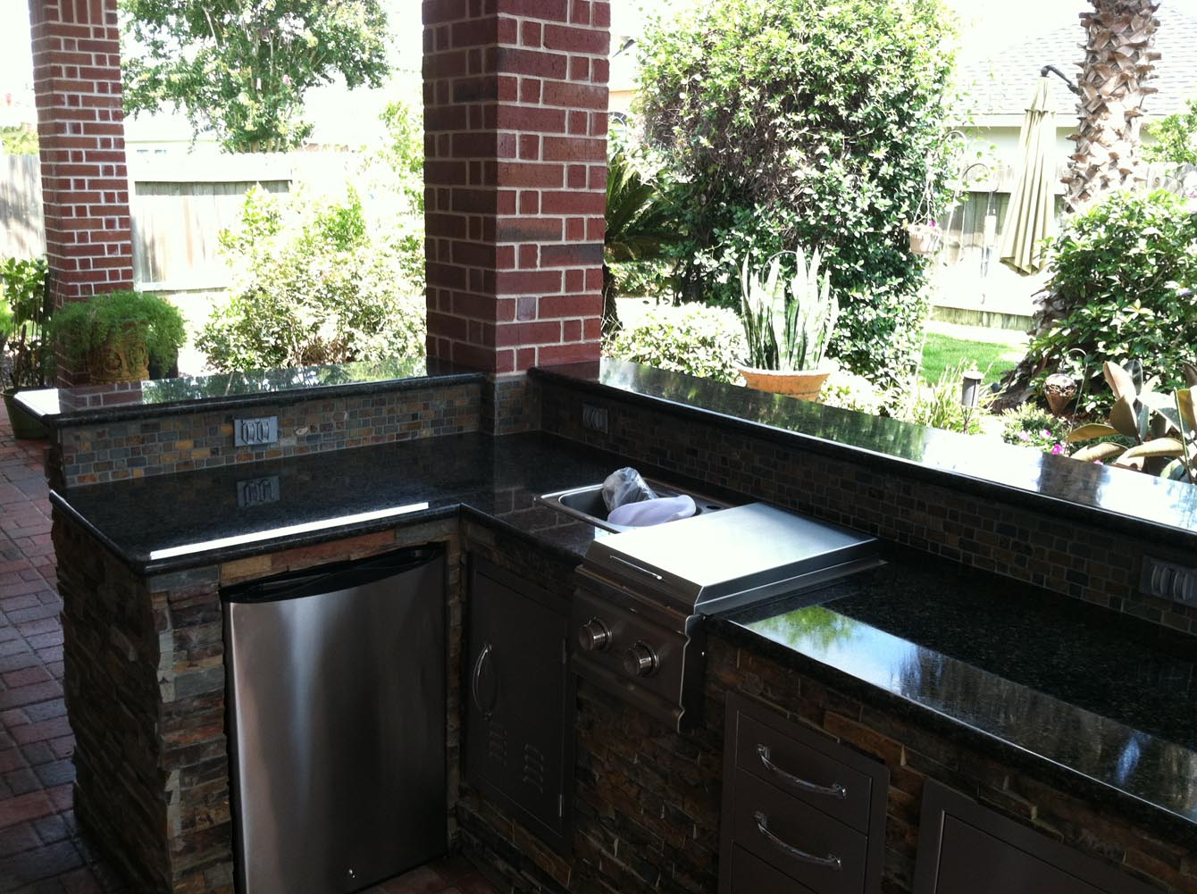 Patio Cover and Outdoor Kitchen in Houston  HHI Patio Covers
