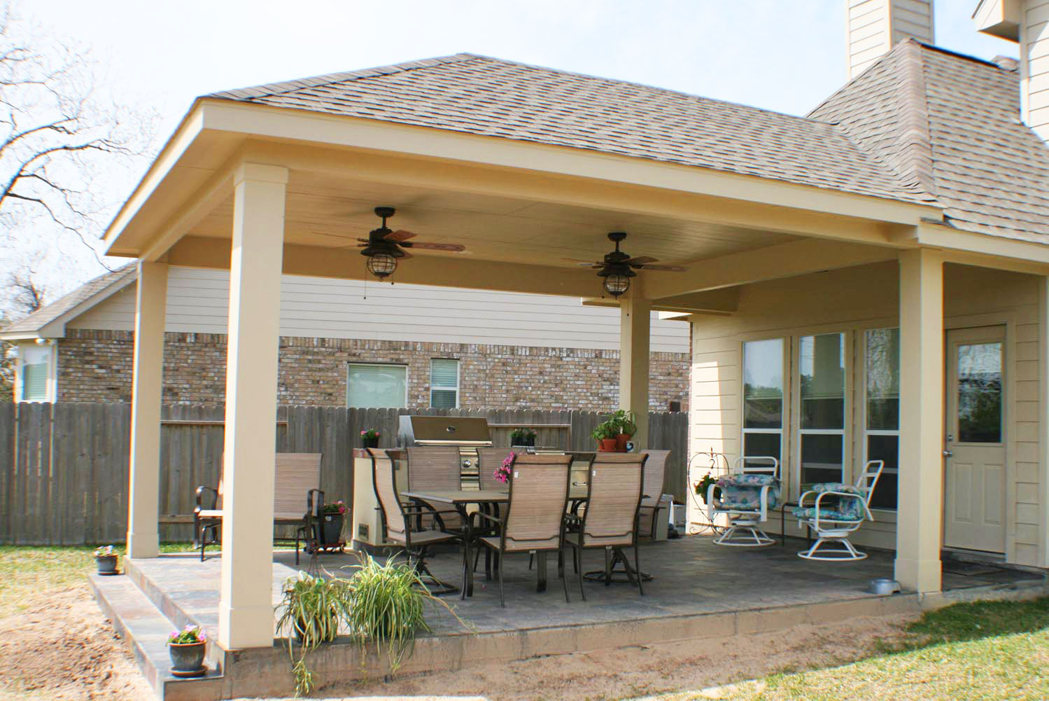 16 by 20 Patio Cover  Outdoor Kitchen  HHI Patio Covers