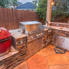 Outdoor Kitchen Covers Sink And Cabinet Kitchens Hhi Patio Houston