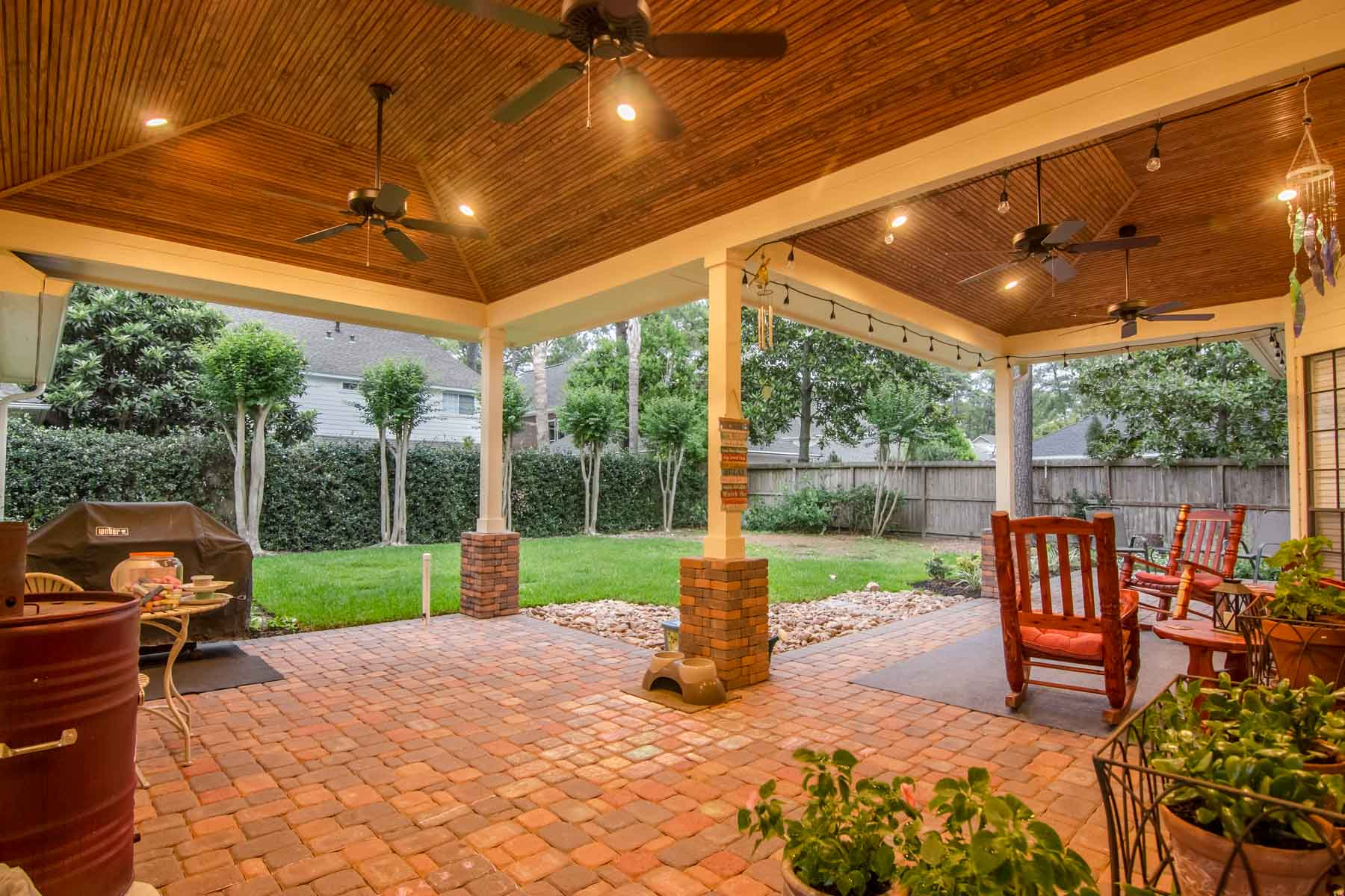Hip Roof Patio Cover in Cypress Texas  HHI Patio Covers