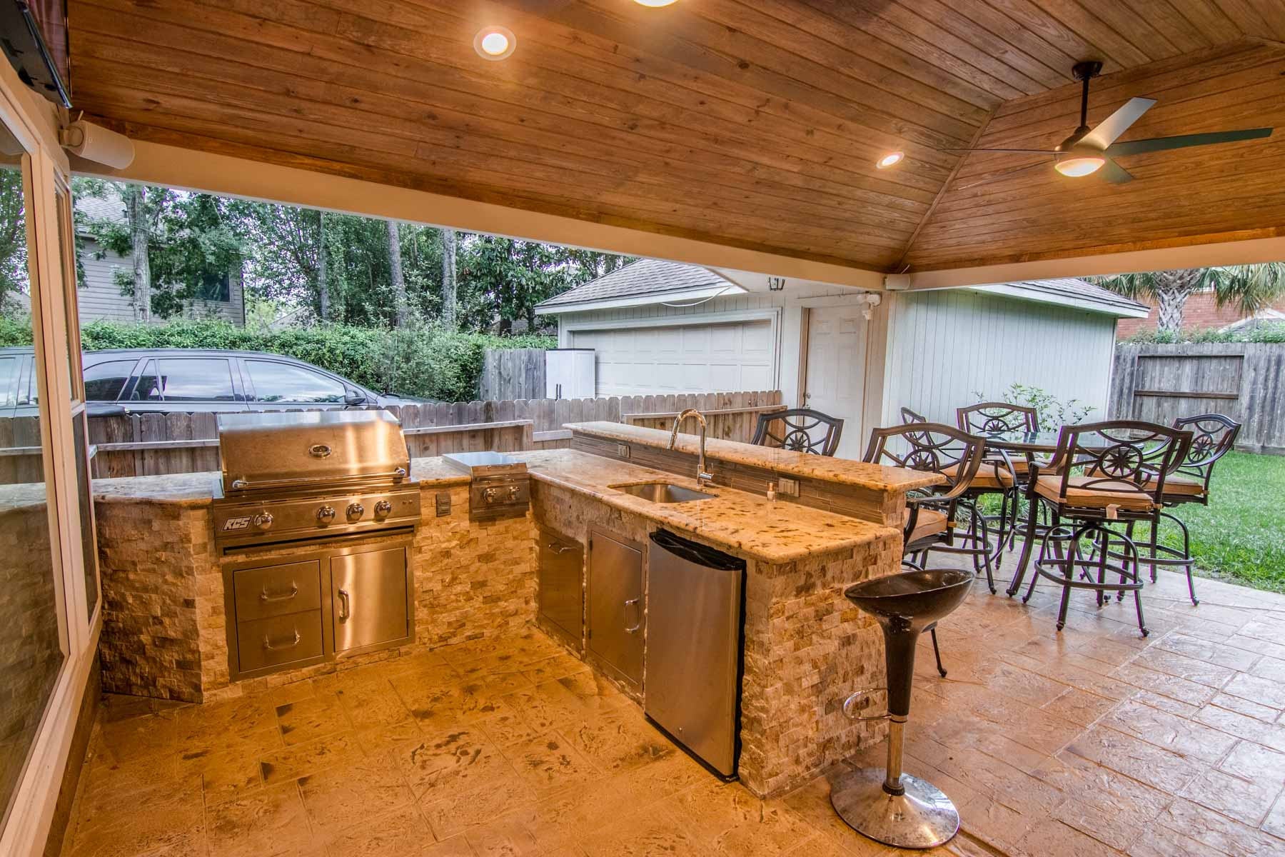 backyard kitchens narrow kitchen tables outdoor - hhi patio covers houston