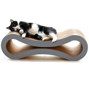 PetFusion's Cat Scratcher Lounge serves double duty as both a cat scratcher and lounge that promises to keep your finicky companions coming back for more. Custom made for cats who enjoy scratching, playing and lounging around.
