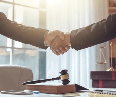 lawyer trust handshake