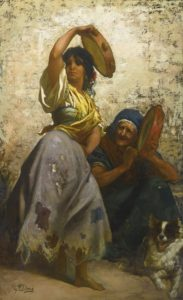 Gustave Doré. A gypsy dancing the Zorongo.