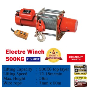Comeup Electric Wire Rope Winch CP-500T