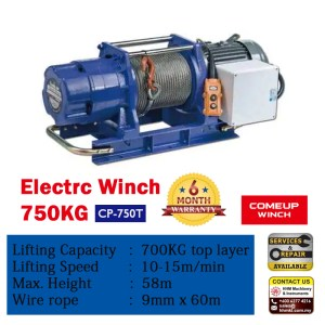 Comeup Electric Wire Rope Winch CP-750T
