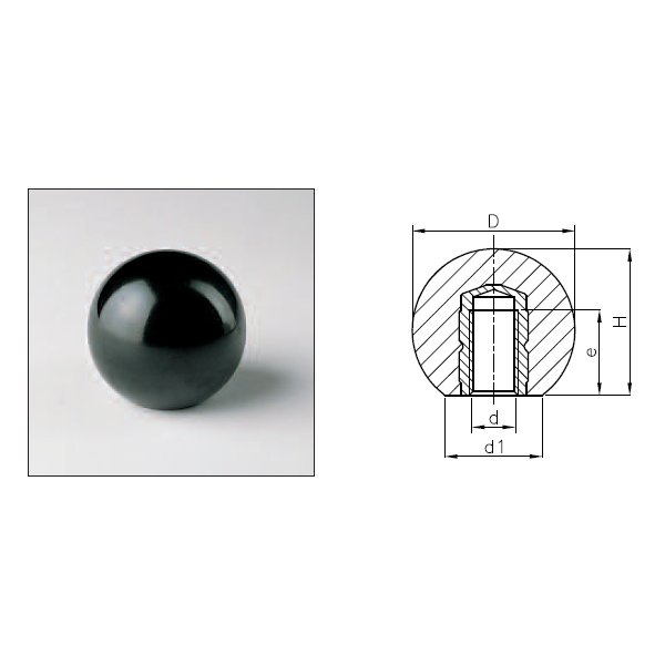 Knobs 1102 (DIN 319K With Threaded Insert)
