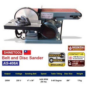 Belt and Disc Sander AS-406A