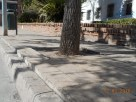 Suelo levantado, plaza Fernández de Castro