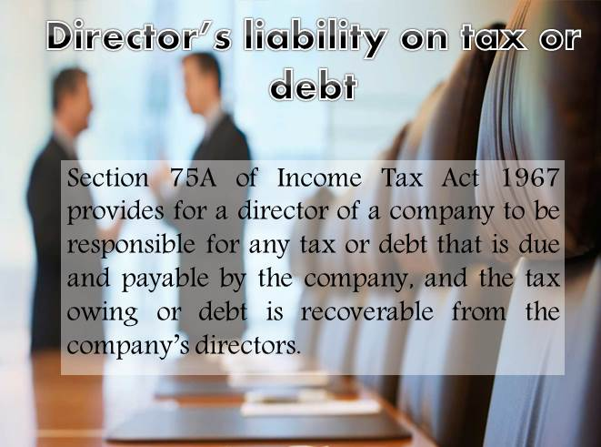 Director's liability on tax or debt   Case & Facts by HHQ   Law Firm in KL Malaysia