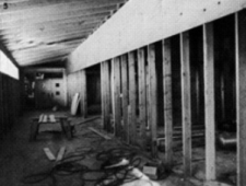Math hall running from the gym to the Little Theatre under construction in 1981.