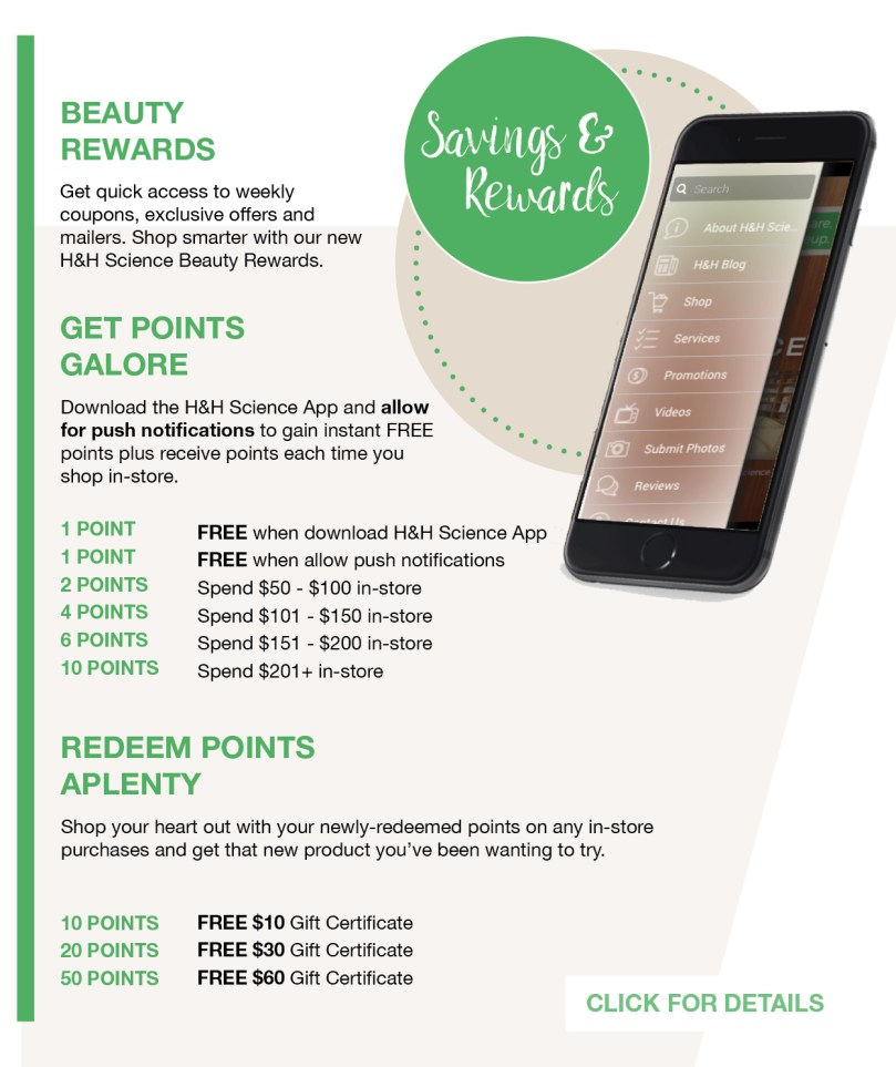 Beauty Rewards – H&H Science