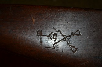 Hand carving on rifle