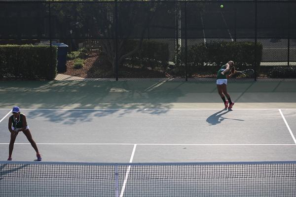 Freshman Ashna Reddy and Senior Alisha Parikh play in the second round of CCS as a doubles team, though they had no prior experience playing so during the tennis season.