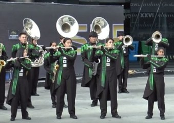 Marching band rocks the Super Bowl