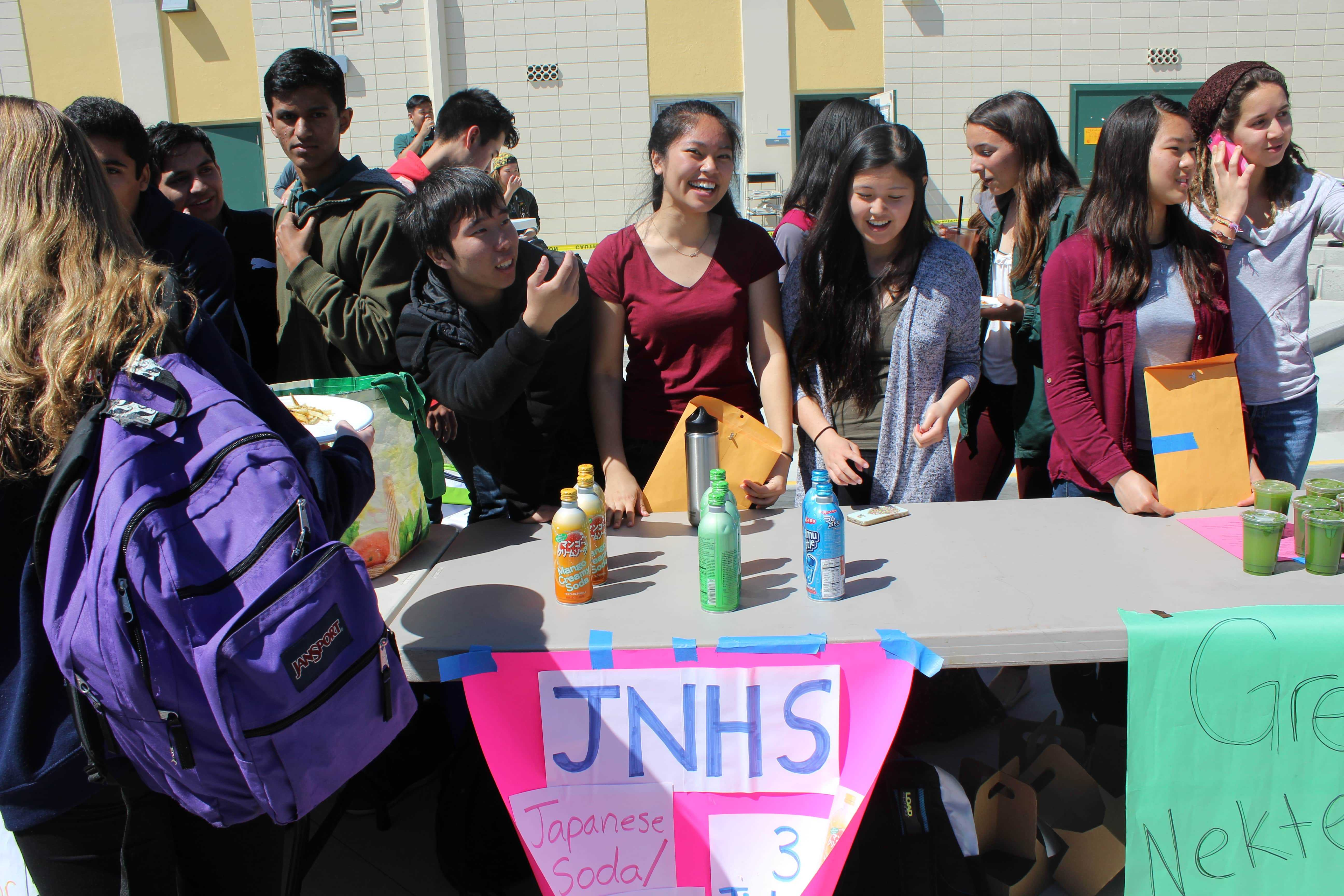 Students selling Japanese soda at last spring's Club and Grub.