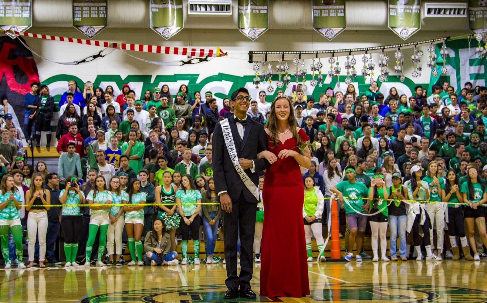 Homecoming+court+nominees+Tej+Gokhale+and+Elizabeth+Cook