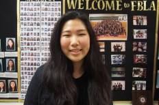 """While pursuing business to become a management consultant, senior Helen Rhee said she is also seeking an internship in the process. """"The community fence in FBLA was a major part of me just assimilating to high school culture in general, but specific events like competitions or working with actual consultants also got me interested in [becoming a management consultant],"""" Rhee said."""