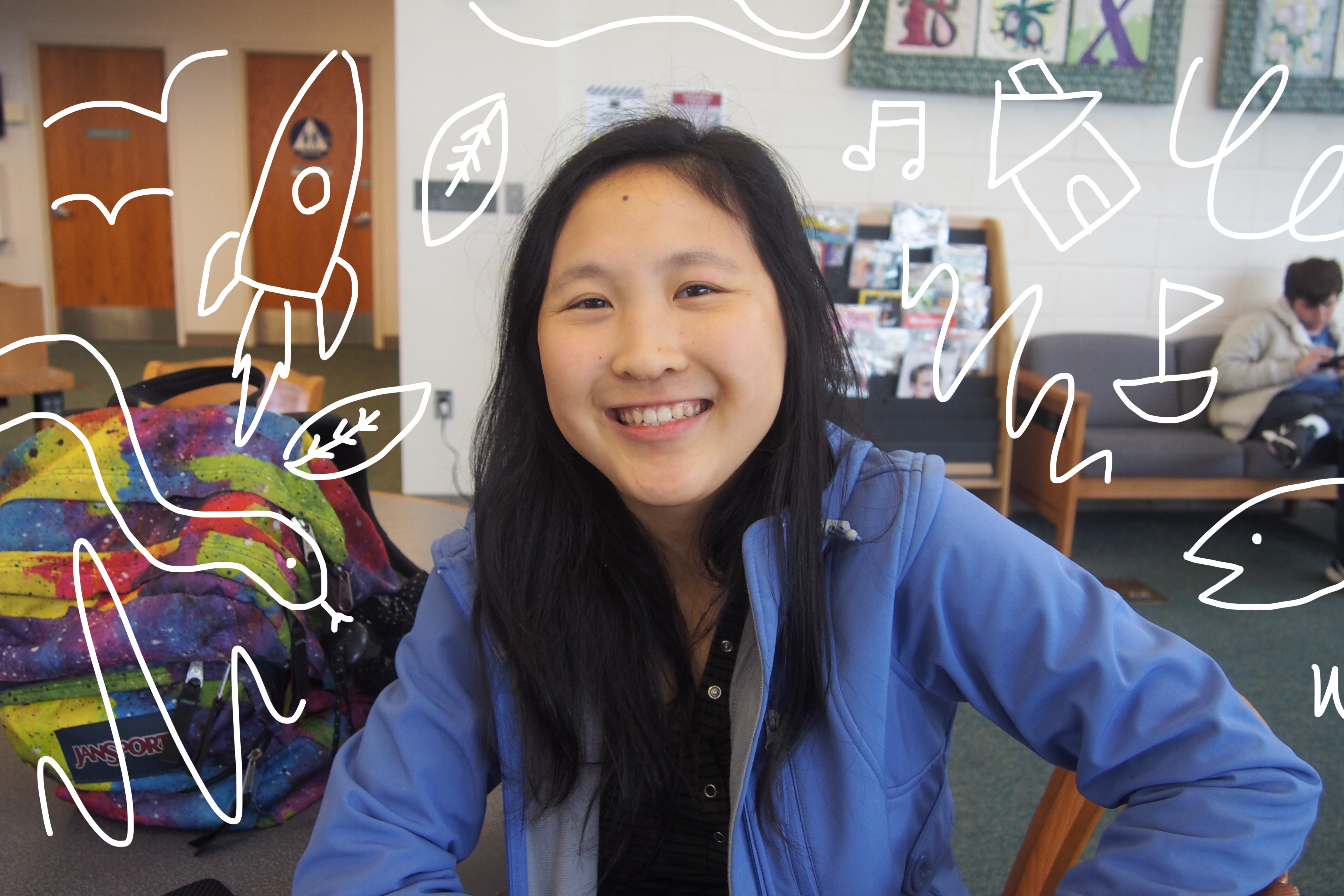 """Senior Austina Wang will attend a four-year college to major in film and animation, she said. """"I think [high school] has prepared me for the rigor of college, or anything, because if you want to be good at anything, you have to work hard and working hard in high school parallels with that,"""" Wang said."""