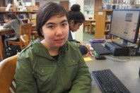 """Although senior Louise House said she has received college acceptances, she is still unsure where she will go or what she will be majoring in. """"[I'm excited to] explore more than I was able to in high school,"""" House said."""