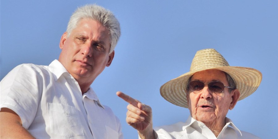 Miguel+Diaz-Canel+%28left%29%2C+the+Cuban+first+vice+president+under+Raul+Castro+%28right%29%2C+was+named+the+country%E2%80%99s+president+on+Thursday.+Photo+courtesy+of+Getty+images.+