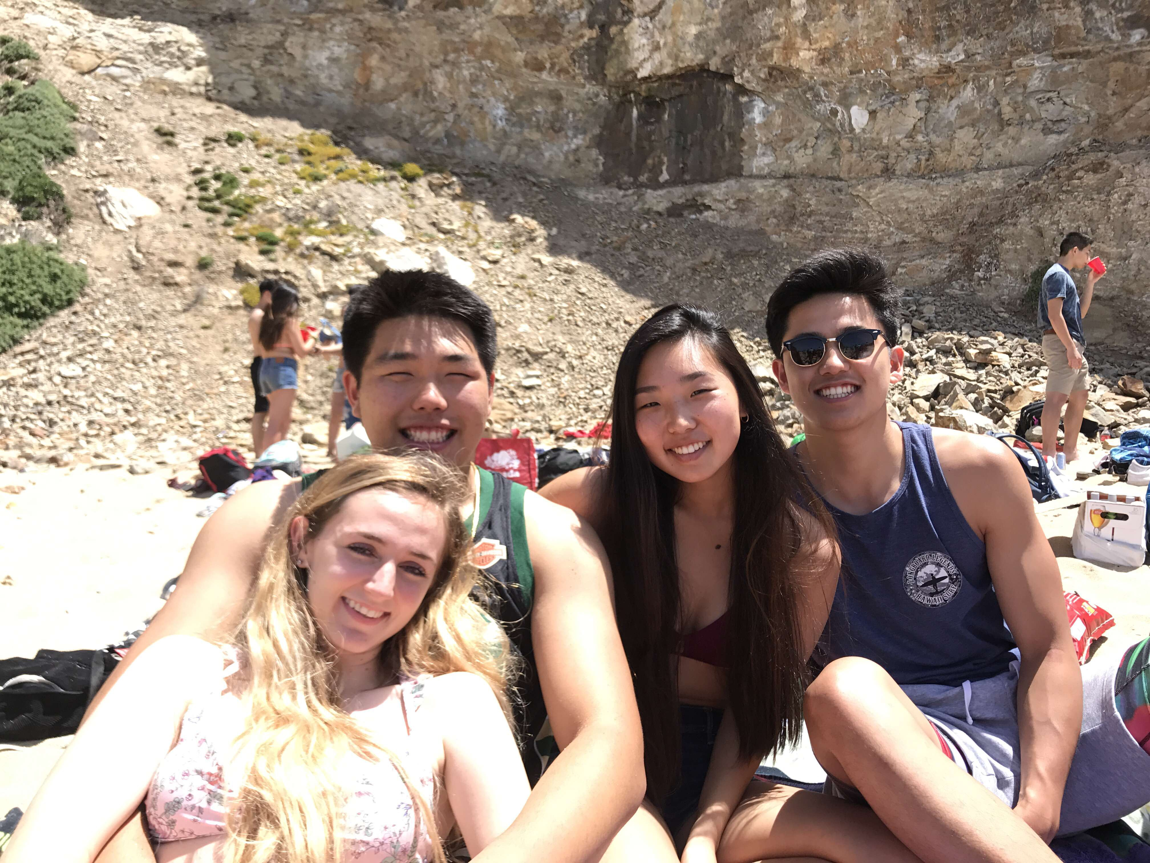 Senior Ashley Pae and her friends relaxed on the beach to celebrate the end of the year. Photo courtesy of Ashley Pae.